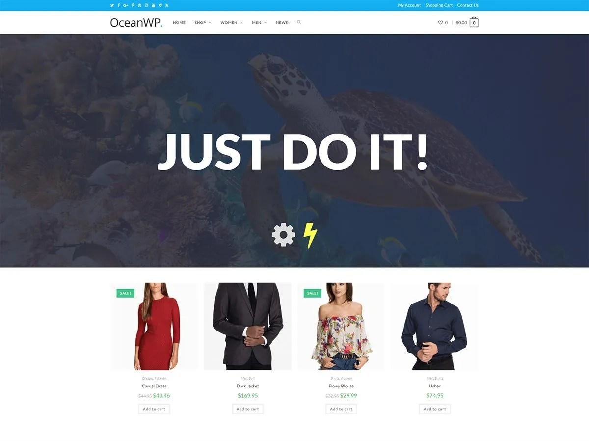 Wordpress šablona zdarma OceanWP