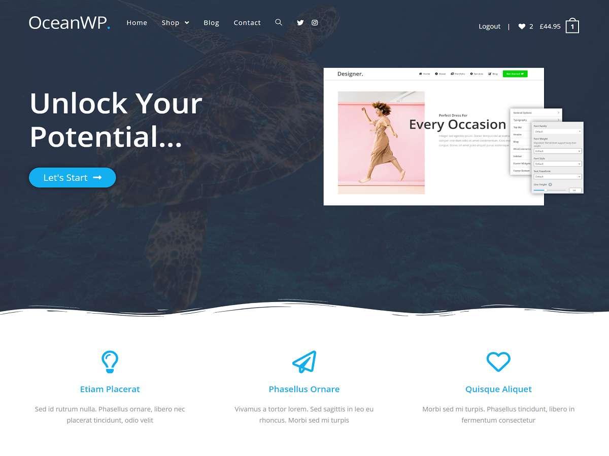 OceanWP - WordPress theme | WordPress.org Ślōnskŏ gŏdka