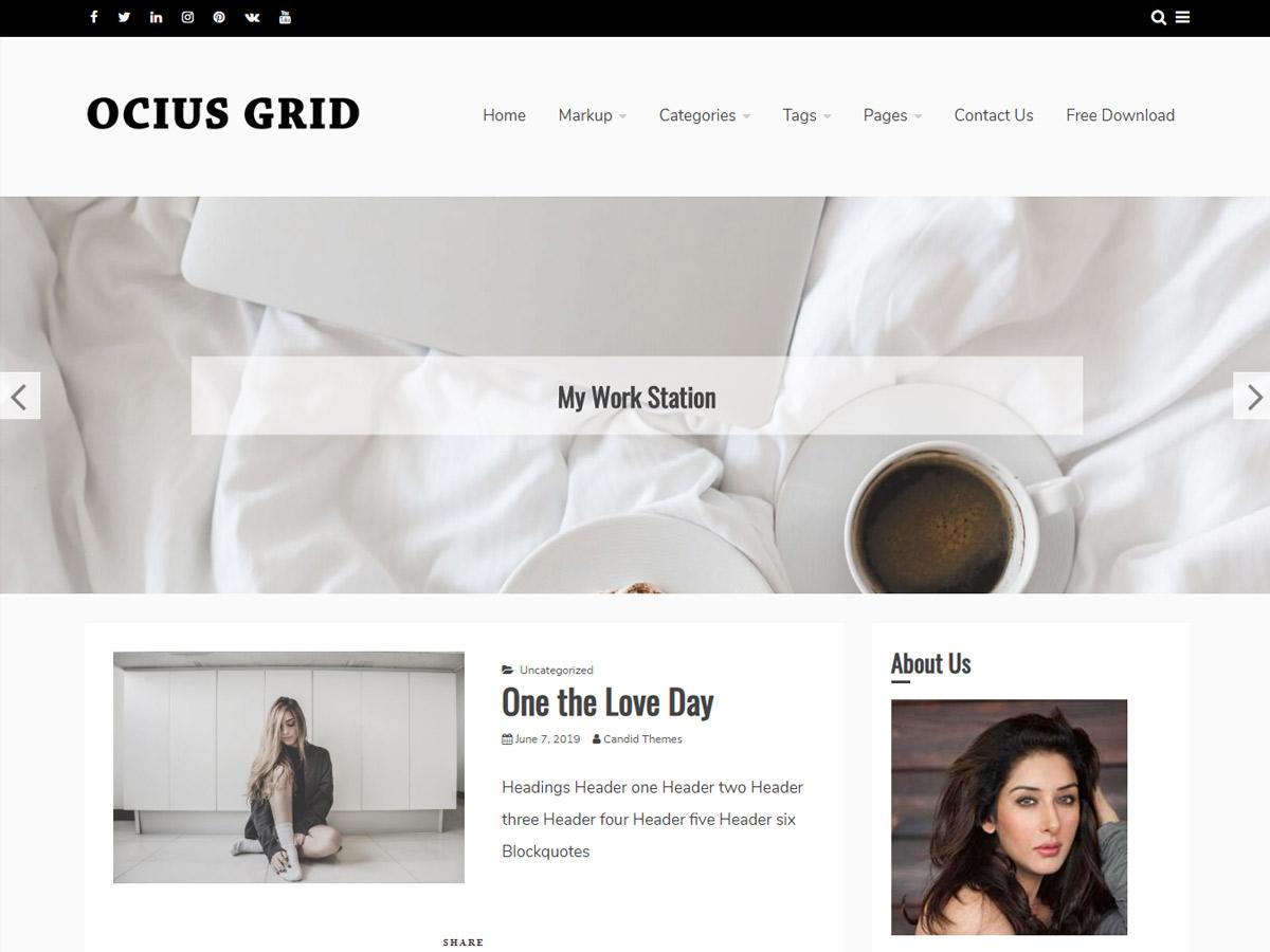 WordPress主题:Ocius Grid