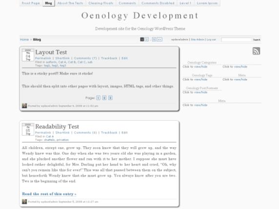 Oenology wordpress theme