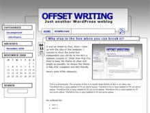 Offset Writing