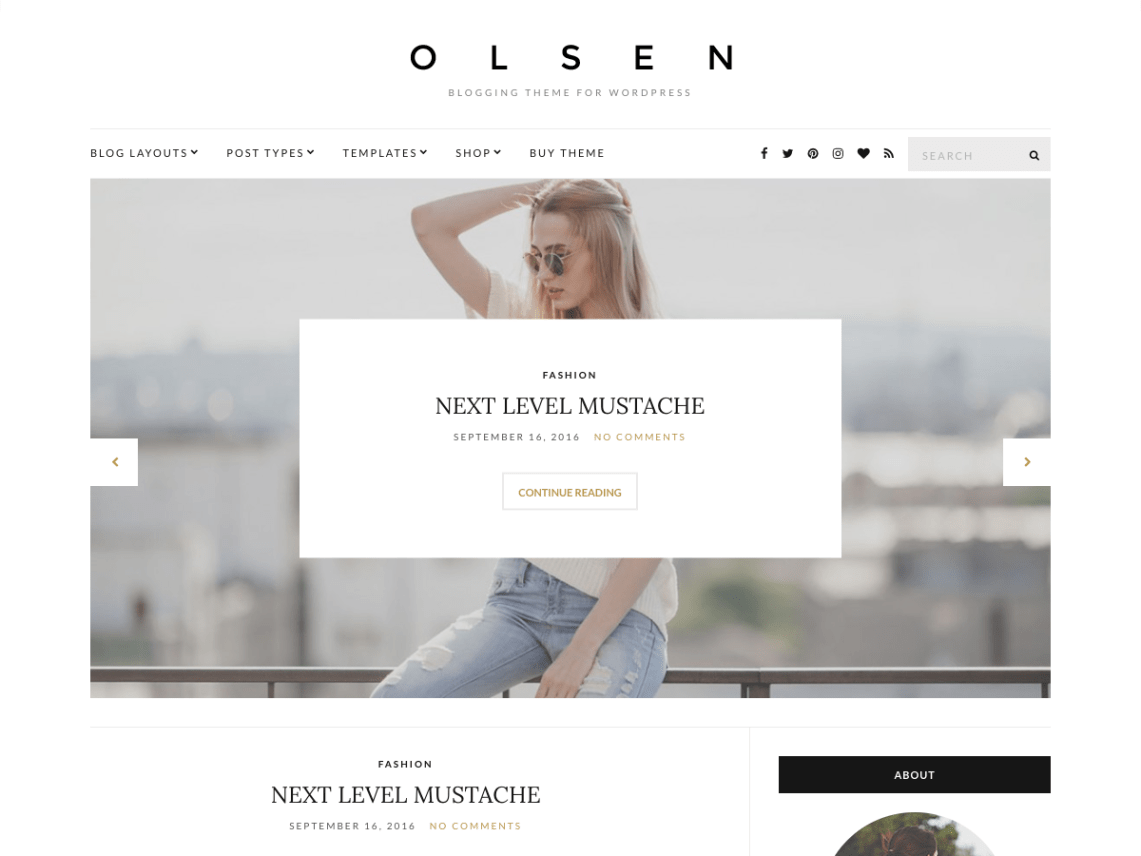 Tema gratis para wordpress Olsen Light