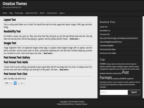 OmaGue wordpress theme
