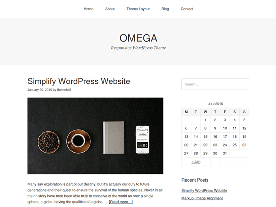 Omega free wordpress theme