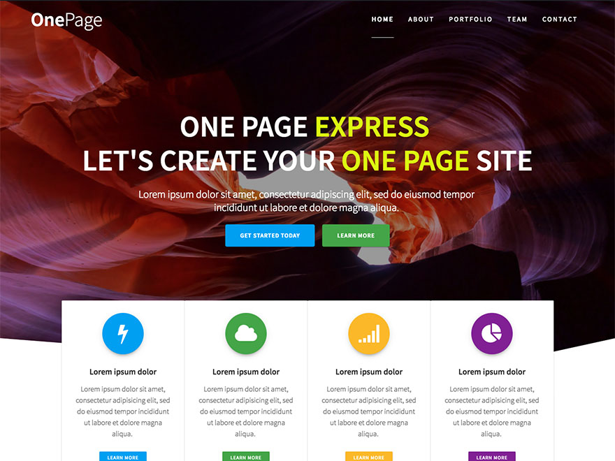 One Page Express By Extend Themes