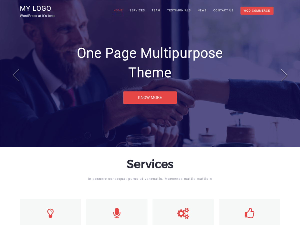 One Page Multipurpose