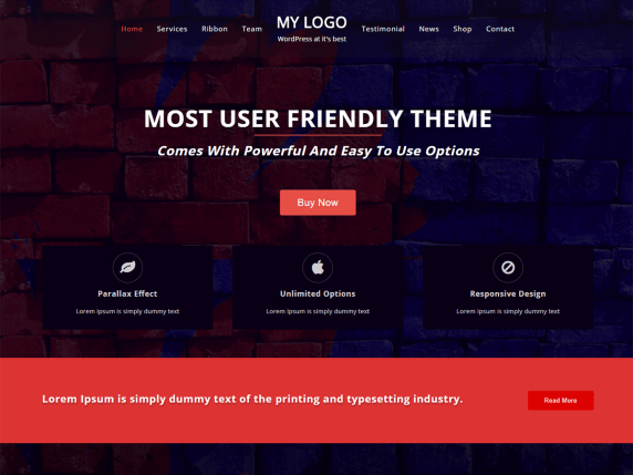 One Page Power WordPress Theme  download