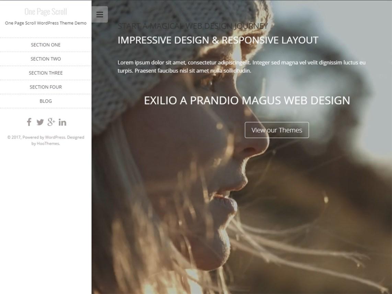 One Page Scroll - WordPress theme | WordPress org