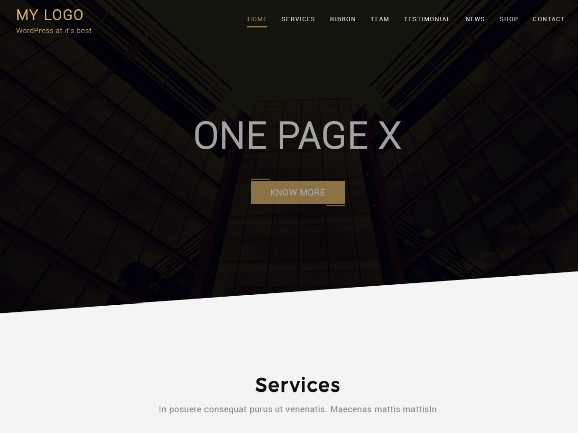 One Page X Theme Free Download