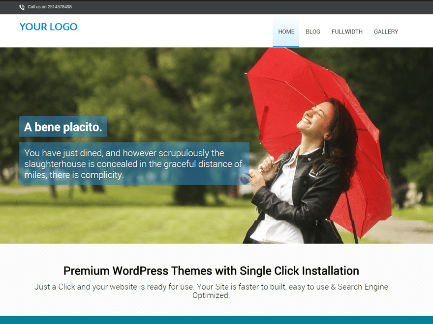 wordpress one page theme free