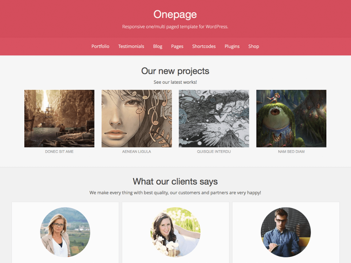 Onepage Theme Free Download