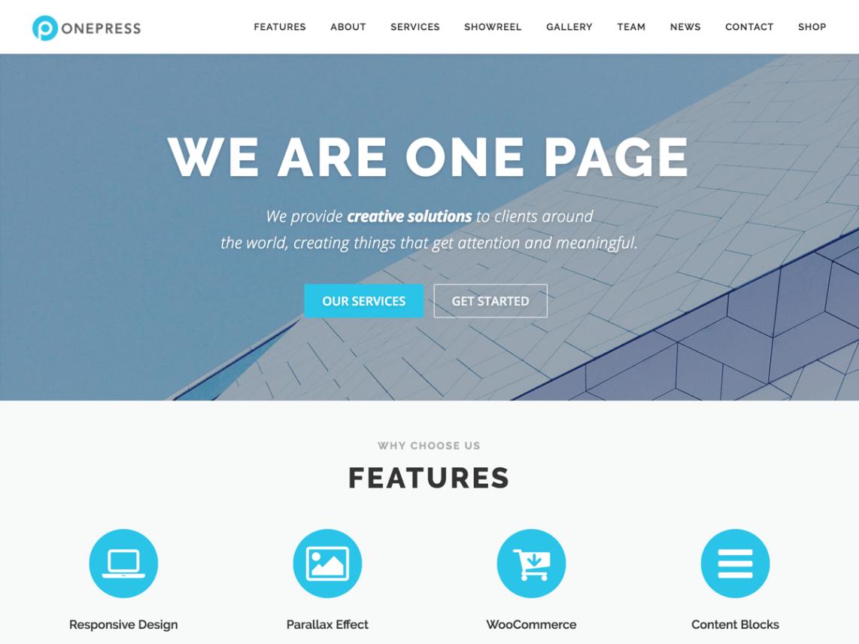 OnePress - WordPress theme   WordPress org
