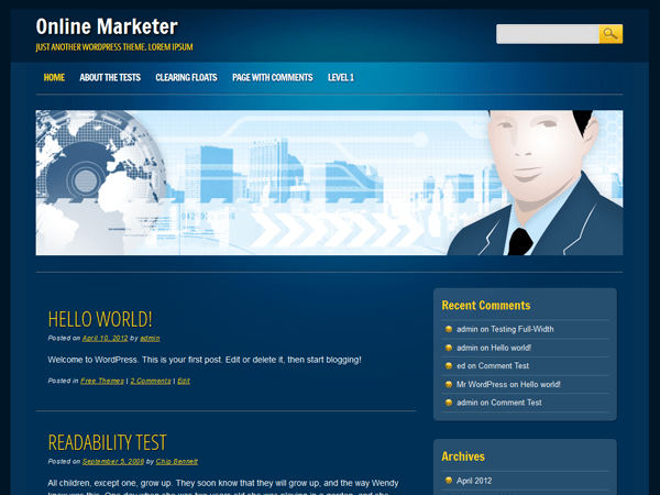 Online Marketer free wordpress theme