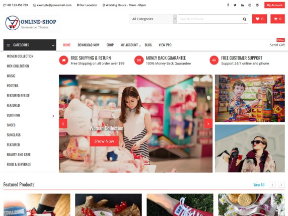 Online Shop Highly Customizable WooCommerce Theme
