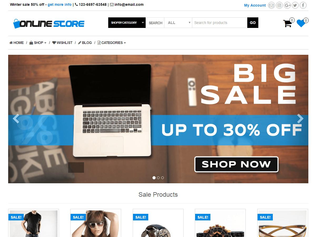 Online Store \u2014 Free WordPress Themes