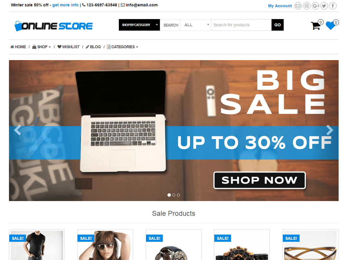 Online Store Wordpress Theme Wordpress Org