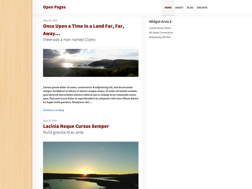 Open Pages free wordpress theme