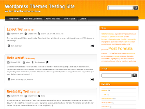 Orange and Black wordpress theme