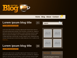 orange coffee wordpress theme
