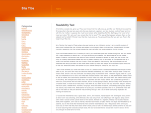 Orange Grey White free wordpress theme