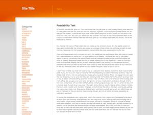 Orange Grey White wordpress theme