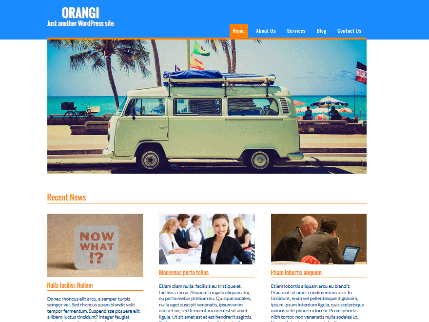 Orangi free wordpress theme