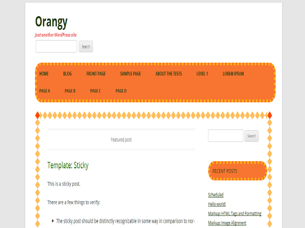 Orangy free wordpress theme