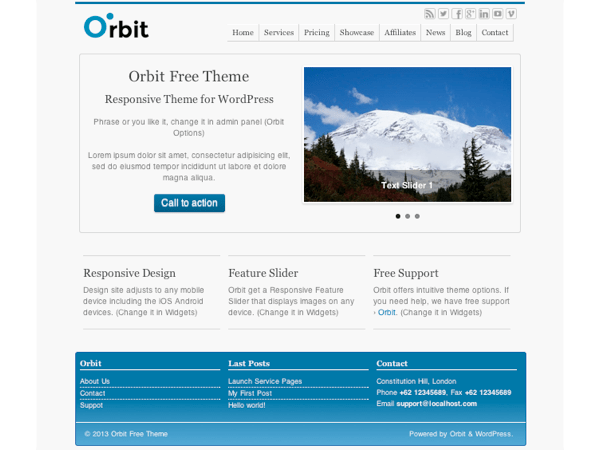 Orbit free wordpress theme