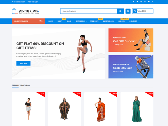 Orchid Store Free Woocommerce Theme