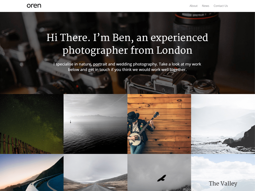 Oren free wordpress theme