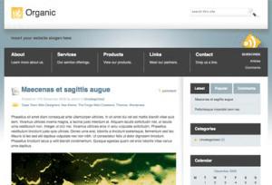 Organic Theme wordpress theme