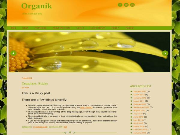 Organik free wordpress theme
