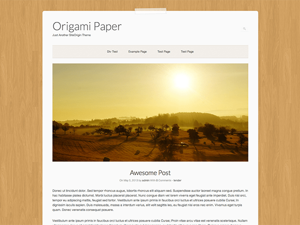 Origami Paper theme wordpress gratuit