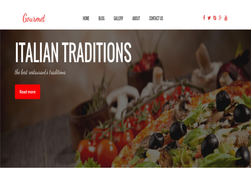 OS Gourmet free wordpress theme