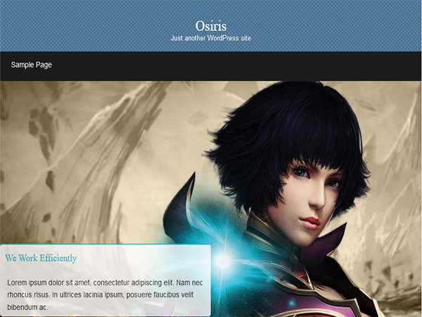 Osiris free wordpress theme