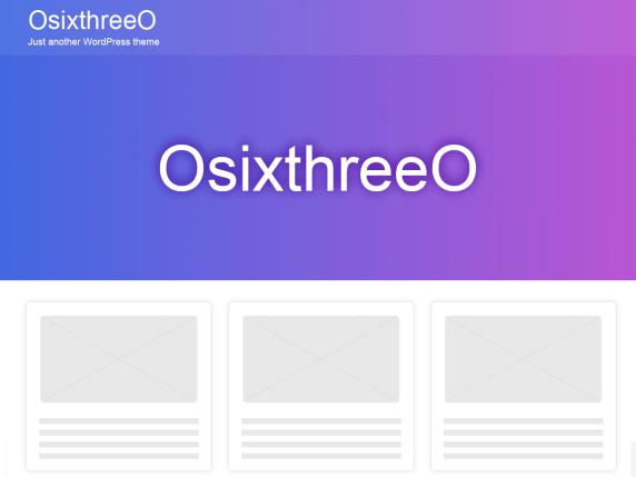 OsixthreeO By