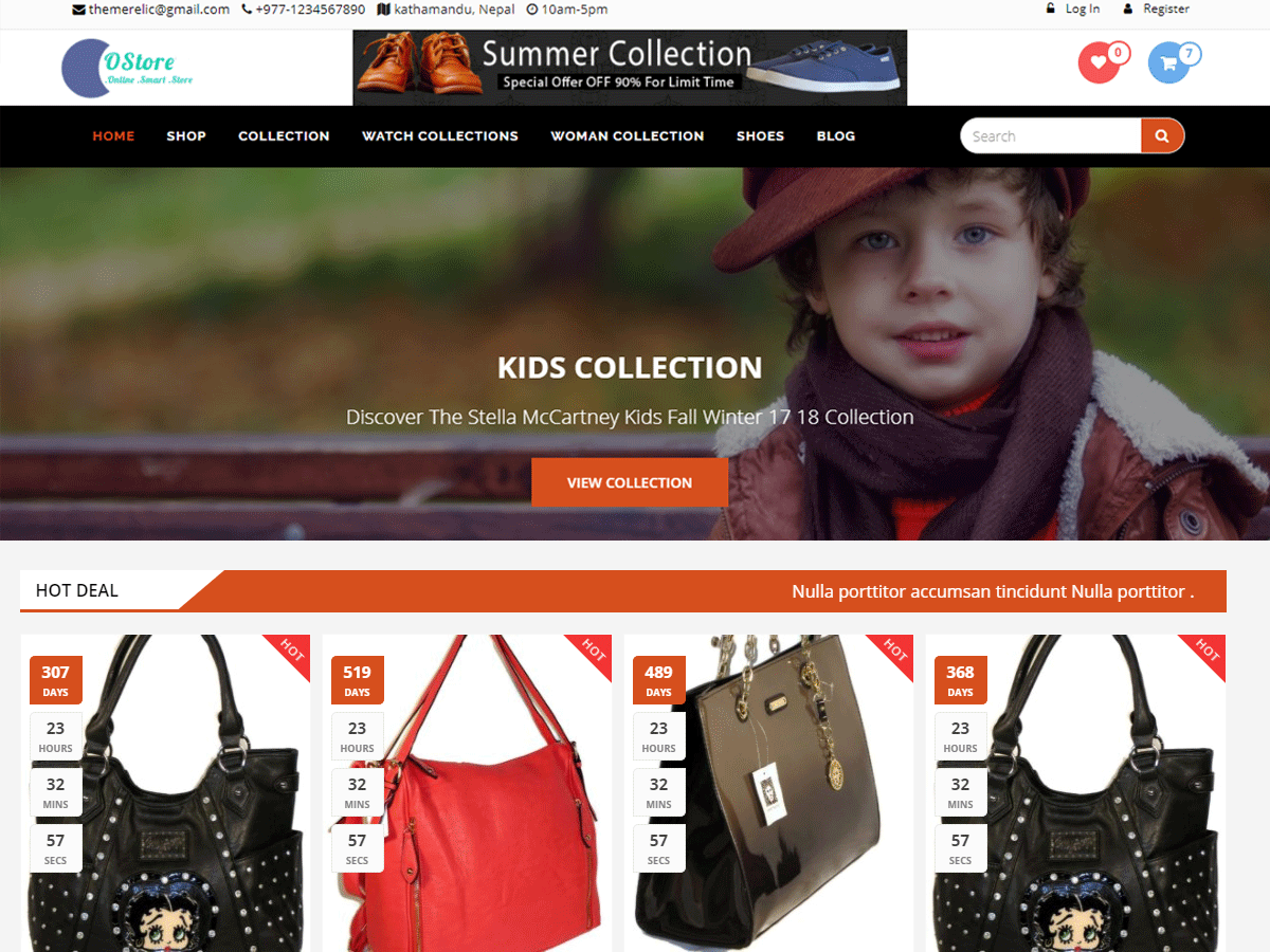 oStore child theme