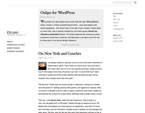 Oulipo wordpress theme