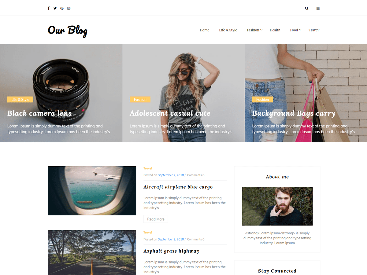 20+ Best Free Elegant WordPress Themes for Personal Blog & Writers 28