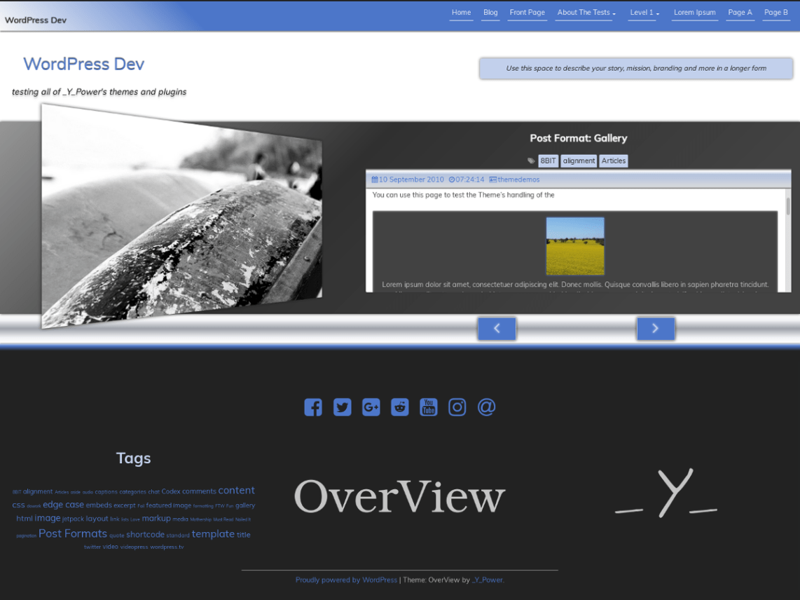 OverView WordPress theme