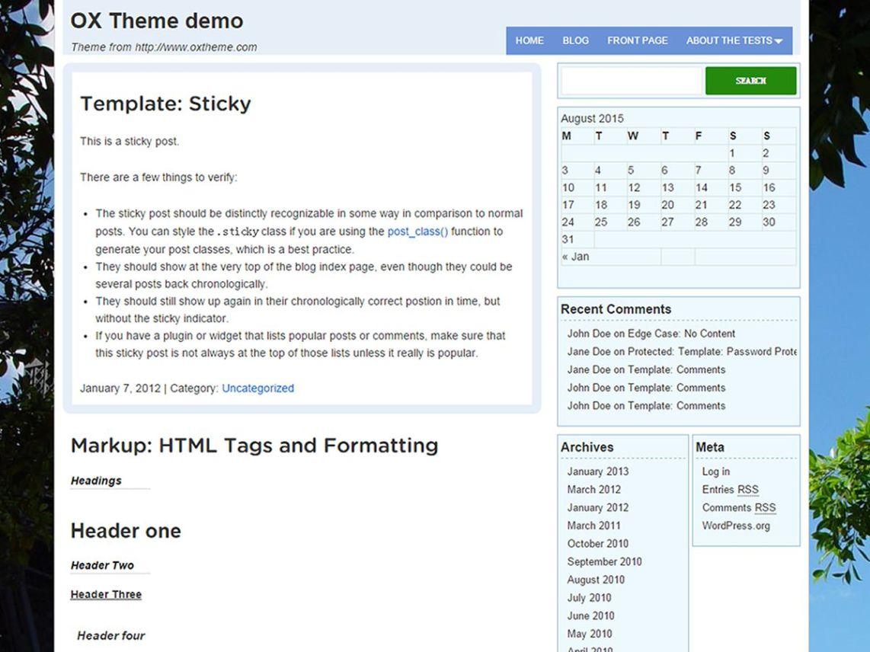 OXbox theme wordpress gratuit