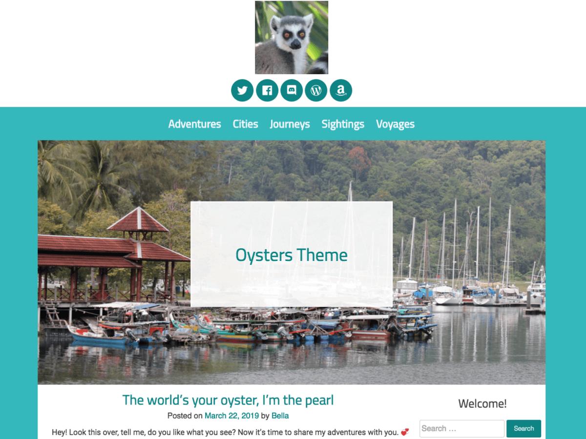 WordPress主题:Oysters