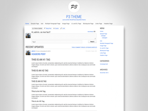 P3 wordpress theme