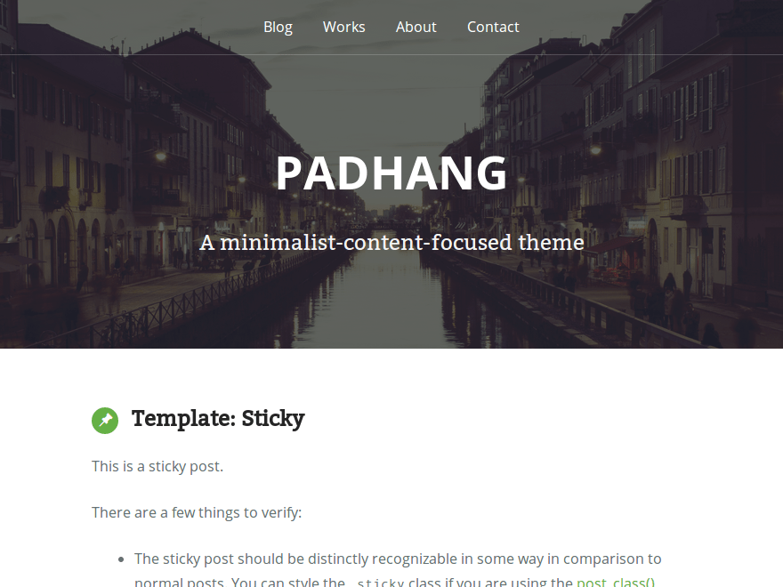 Padhang free wordpress theme