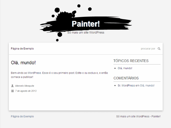 Painter free wordpress theme