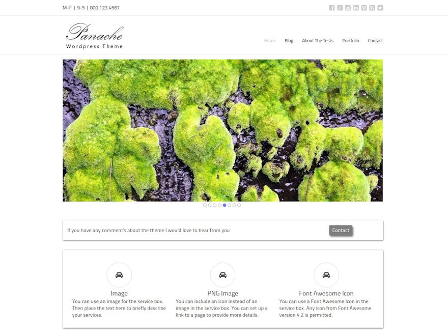 Panache free wordpress theme