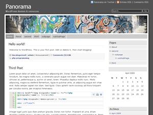 Panorama free wordpress theme
