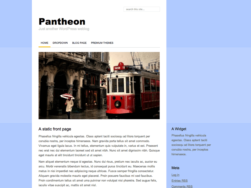 Pantheon free wordpress theme
