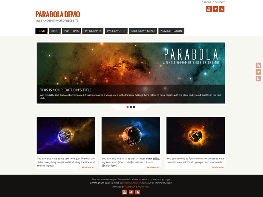 Parabola free wordpress theme