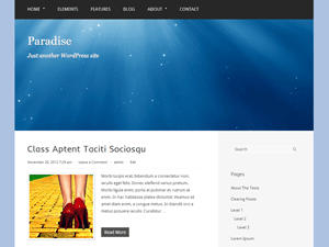 Paradise free wordpress theme